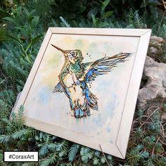 """Hummingbird"" is now available! #CoraxArt 🎨 Link in profile🌎  Новая работа ""Колибри"" в наличии! 🎨 Ссылка в профиле🌍  .  .  .  #art #wallart #woodart #walldecor #artist #etsy #artsy #creative #drawing #laser  #watercolor #woodworking #artwork #engraving #illustration #prints #printmaking #customart #popart #laserengraving  #hummingbird  #draw #wooddecor #искусство #картина #колибри #гравировка #панно #акварель"