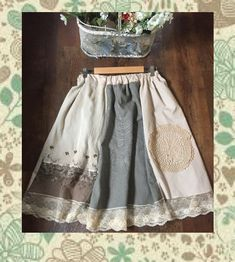 mori girl natural kei skirt