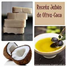 Olive-Coconut soap is a traditional natural soap quite easy to make . Coconut Soap, Natural Beauty Recipes, Homemade Soap Recipes, Homemade Beauty Products, Home Made Soap, Natural Cosmetics, Handmade Soaps, Soap Making, Diy Beauty