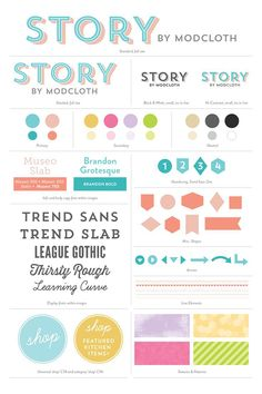 Designing a Killer Style & Brand Guide (Tips & Examples) Story by ModCloth