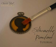 Silhouette Pendant Jewelry Tutorial - Mothers/Grandparents Day gift ideas - Birthday gift ideas! Church Street Designs
