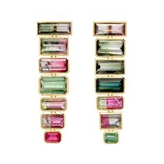 Retrouvai Gypsie tourmaline earrings