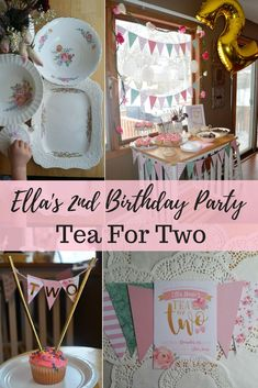 Tea for Two birthday party decor, Tea party, Twin birthday party ideas, Girl birthday party, Source by twinmomandmore ideas party 2 Year Old Birthday Party Girl, 2nd Birthday Party Themes, Girls Birthday Party Themes, Birthday Gifts For Teens, Tea Party Birthday, 1st Birthday Girls, First Birthday Parties, Birthday Party Decorations, Spring Birthday Party Ideas