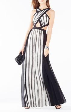 Malgosia Striped Cutout Dress