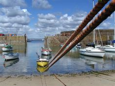 Along The Boat Rope, Mousehole harbour All Secure, Cornwall.