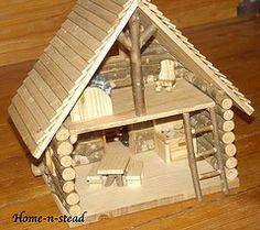 log cabin crafts for kids