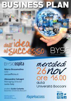 """Locandina """"Business Plan: dall'Idea al Successo"""""""