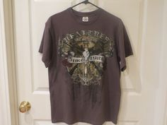 Real Tree T-Shirt Size Large Gray w/multi color picture  #Realtree #GraphicTee