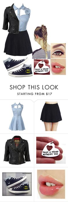 """255"" by kaydreams ❤ liked on Polyvore featuring Wet Seal, Superdry and Converse"