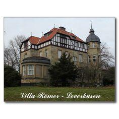 Villa Römer Mansion in Leverkusen Postcard #sold on #zazzle