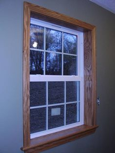images of oak trim | Here is oak trim with white vinyl windows