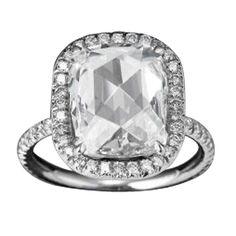 Cushion Rose-Cut Diamond Ring