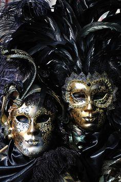 Venice Carnival Masks. #masks #venetianmasks #masquerade http://www.pinterest.com/TheHitman14/artwork-venetian-masks-%2B/