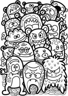 Premium Discover thousands of available vectors AI and EPS format Cute Doodle Art, Doodle Art Designs, Doodle Art Drawing, Cool Art Drawings, Art Drawings Sketches, Doodle Art Simple, Doodling Art, Doodle Doodle, Doodle Ideas