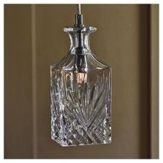Buy Decanter Glass Ceiling Pendant Clear from our Pendants range - Tesco.com