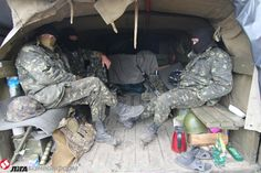 ATO forces having rest after night shift