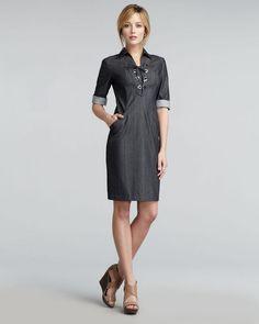 0723eba7e93 Women s Black Nissa Lace-up Dress