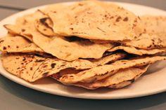 fresh chapati bread