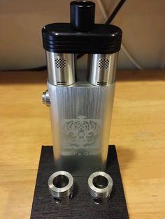 Hells Gate Dual RDA Atomizer Mechanical Aluminum Box Mod #vaping #vape