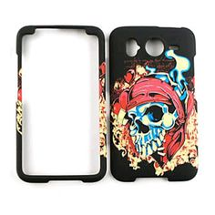 Cell Armor Snap-On Cover for HTC Desire HD/Inspire 4G - Pirate Skull on Black