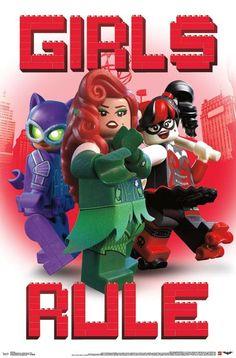 Girls Rule lego batman movie poster featuring lego Catwoman, Harley Quinn and more. Marvel Movie Posters, Best Movie Posters, Movie Poster Art, Legos, Batman Girl, Batman 2, Dc Comics, Brick Show, Gotham Girls