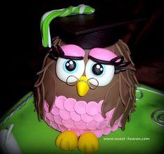 Owl Cake Graduation