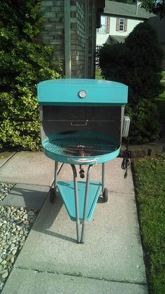 Vintage STRUCTO BARBECUE COOKING GRILL w/ Rotisserie / Bun Warmer BBQ.