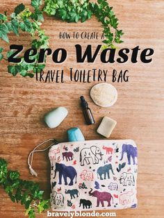 One of the first essentials to zero waste travel is your travel toiletry kit! Find out how you can reduce waste and your carbon footprint by creating a travel bag filled with essentials to eco friendly living! This includes organic skincare, palm oil free Zero Waste, Reduce Waste, Eco Friendly House, Eco Friendly Products, Eco Friendly Bags, Travel Toiletries, Packing Light, Sustainable Living, Sustainable Fashion