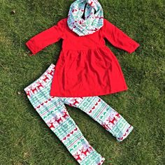 Christmas Reindeer 3-Pc Scarf Set-Preorder