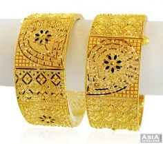 22k Fancy Filigree Gold Kadas