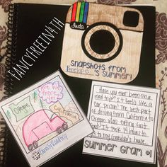 So cute for beginning a writing notebook!