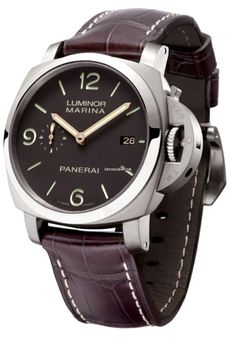 Panerai [NEW] PAM 351 Luminor Marina 1950 3 Day Titianium Tobacco (Retail:HK$62,200) ~ JULY SPECIAL: HK$47,800.