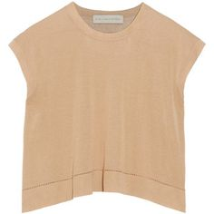 Stella McCartney Cropped silk and cotton-blend top