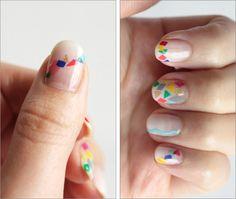 Nail art triángulo