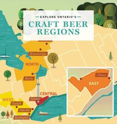 EXPLORE ONTARIO'S CRAFT BEER REGIONS Beer Of The Month, Brewing Company, Home Brewing, Craft Beer, Brewery, Ontario, Prince Edward, Pints