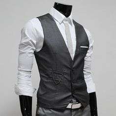 (VE34) Mens premium layered style slim vest waist coat | eBay