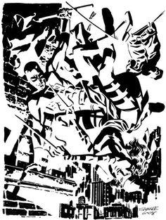 Daredevil Vs Elektra by Chris Samnee