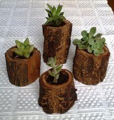 macetas de troncos - Buscar con Google