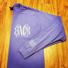 Glitter Monogram Long Sleeve! https://www.etsy.com/listing/180219502/long-sleeve-custom-glitter-monogrammed-t