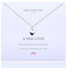Joma jewellery a little love silver heart necklace from Lizzielane.com £11.99 http://www.lizzielane.com/product/joma-jewellery-little-love-silver-heart-necklace/