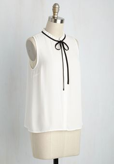 Refreshing Routine Top. Getting ready in the morning is a breeze when this white top is in your wardrobe. #white #modcloth