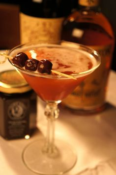 EL HATTAN 1 spoon Laura Ann's Manhattan Magic Cherry Jam 1.5 oz Templeton Rye 1 oz Antica Formula  1 dash Angostura bitters  Add all ingredients in a boston shaker with 1 scoop of ice.  SHAKE well & strain into chilled cocktail glass.  Garnish with rye soaked cherries.  http://www.lauraannsjams.com
