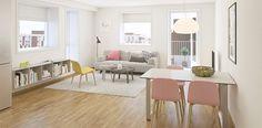 #ethjemfraskanska#øvretastarustå#stue Dining Bench, Interior, 3d, Furniture, Home Decor, Modern, Table Bench, Indoor, Room Decor