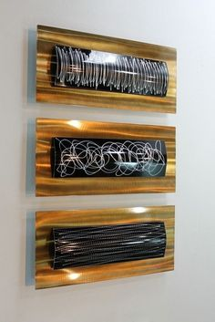 "Metal Abstract Modern Painting Wall Art Sculpture ""Concerto"" By Jon Allen #Handmade"