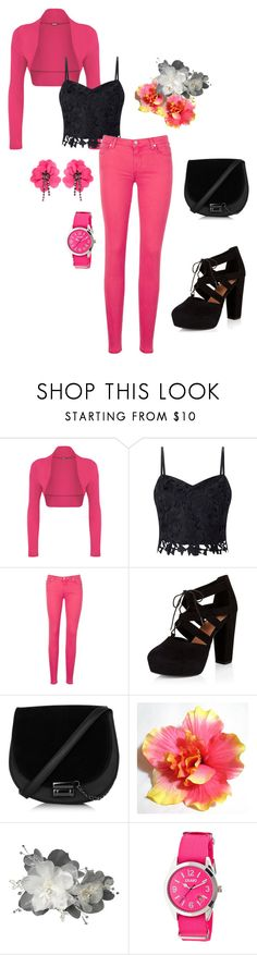 """""""Untitled #158"""" by lalle-mila ❤ liked on Polyvore featuring WearAll, Lipsy, 7 For All Mankind, New Look, Crayo and Lanvin"""