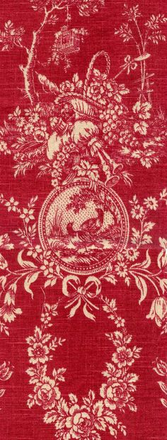 Vintage Inspired Red Toile tablelinen