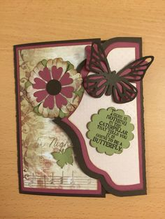 Scrapbooking card butterfly