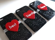 Best Friends iPhone 4/4S 3 Case Set by VanityCases on Etsy, $40.00