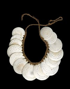 Necklace made of conus shell, sinnet cord. AN1166160001  © The Trustees of the British Museum  Department: Africa, Oceania & the Americas