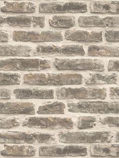 Papel de parede Tijolos a Vista Bege, Creme e Cinza - J179-18 - Site de tecidos para sofá, cortinas, papel de parede e móveis